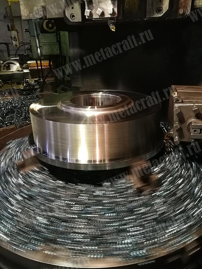Токарно-карусельная обработка колеса